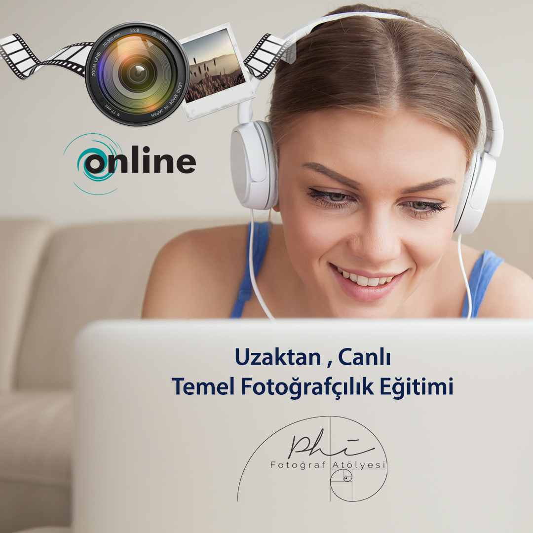 Smiling young woman wearing headphones using laptop, teen girl making video call, watching movie, studying online at home, listening to audio course, learning foreign language, head shot portrait